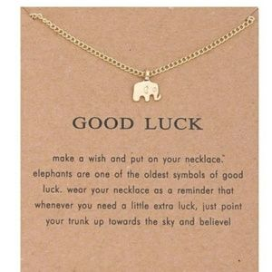 Jewelry - 5 for $25 Gold Color Elephant Pendant Necklace